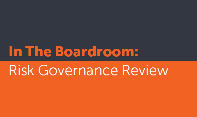 In the Boardroom: Risk Governance Review banner
