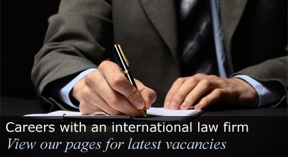 Careers with an international law firm