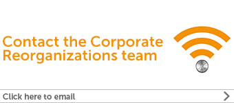 Corporate Reorganizations contact us banner